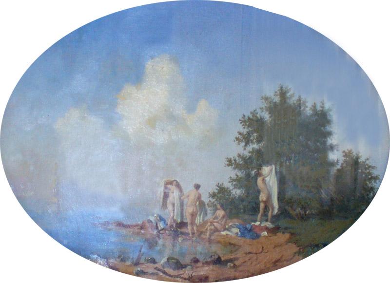 Каменев В.К. Купальщицы 1854