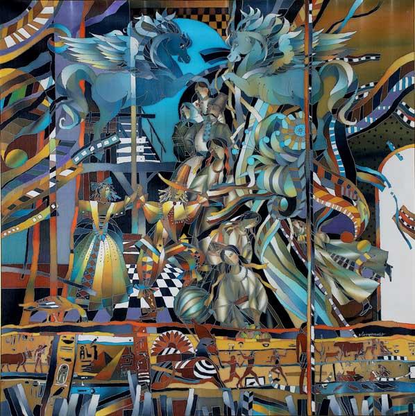 Выставка Династия Лещенко. Батик Сочинский Художественный музей