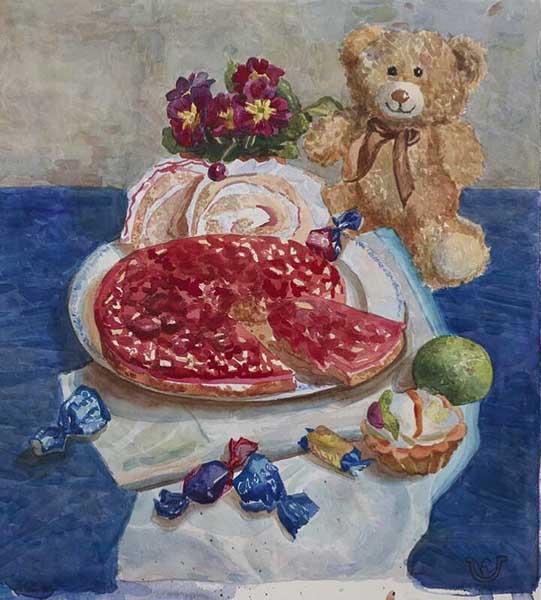 Праздничный натюрморт 2016 Автор Королева Ксения 15 лет Москва