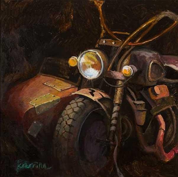 персональная выставка художника Ксении Кокориной Что-то про мото