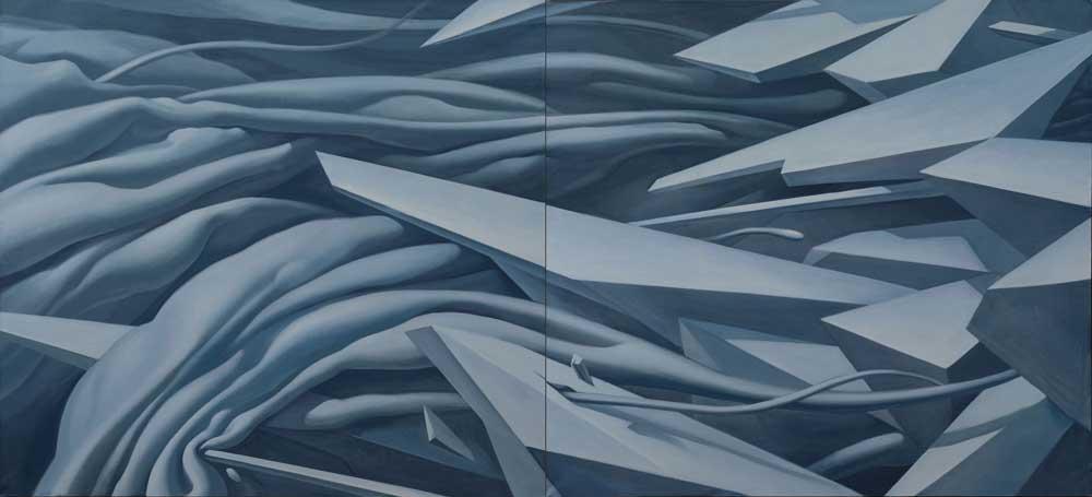 Экспериментальный выставочный проект OFF ТОП. Геометрическая абстракция (живопись, графика, коллаж, арт-объекты). 12 участников (Краснодар)