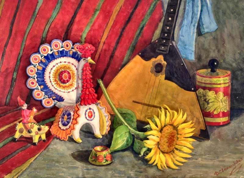 Персональная выставка Святогорской Дианы в Сочинском Художественном музее Живопись