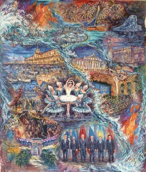 Персональная выставка сочинской художницы Жанны Отченаш в Сочинском Художественном музее